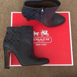 Coach charcoal gray Hanni Soft Goat booties
